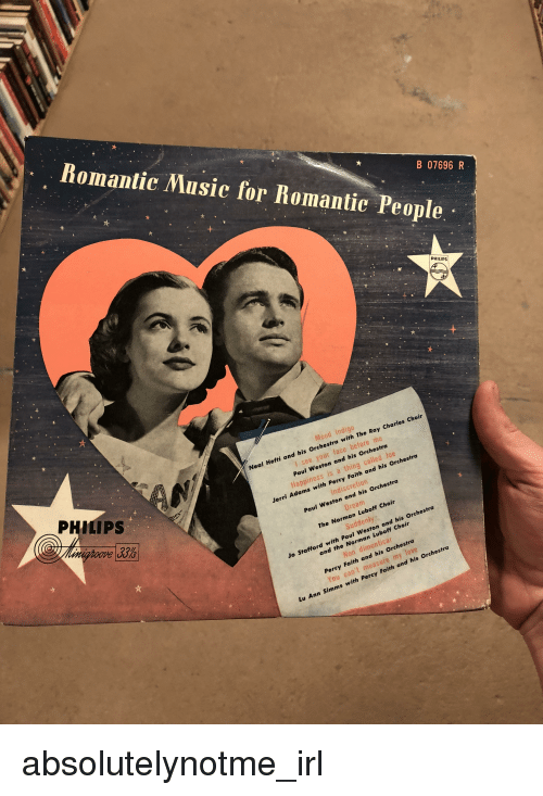 Jerri: Romantic Music for Romantie People  B 07696 R  Mood Indigo  al Hefti a  nd his Orchestra with The Ray Charles Choir  PHILIPS  l see, your face before me  Paul Weston and his Orchestra  Happiness is a thing called Joe  Jerri Adams with  Percy Faith and his Orchestra  ove UO  Indiscretion  Orchestra  Paul Weston and his  Dream  The Norman Luboff Choir  Suddenty  Jo Stafford with Paul Weston and his Orchestra  and the Norman Luboff Choi  Non dimenticar  Percy Faith and his Orchestra  You can't measure my love  Lu Ann Simms with Percy Faith and his Orchestra