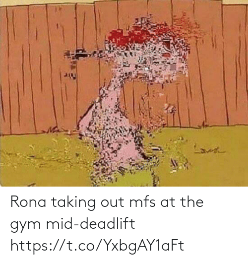 Gym: Rona taking out mfs at the gym mid-deadlift https://t.co/YxbgAY1aFt