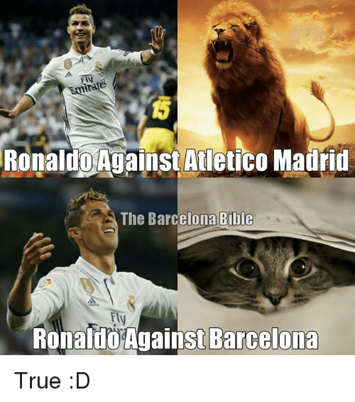 Barcelona 1 2 Real Madrid Vintage Ronaldo Silences The: 25+ Best Memes About Atletico