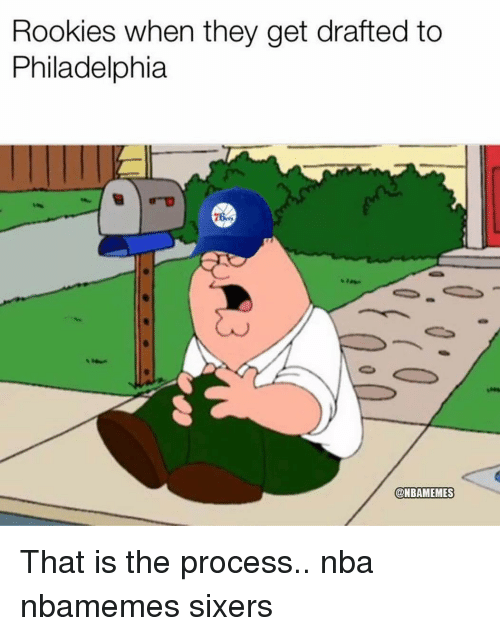 Sixers: Rookies when they get drafted to  Philadelphia  @NBAMEMES That is the process.. nba nbamemes sixers
