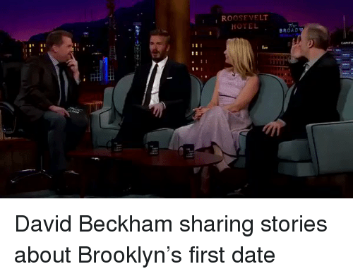 David Beckham, Funny, and Roosevelt: ROOSEVELT  HOTEL David Beckham sharing stories about Brooklyn's first date