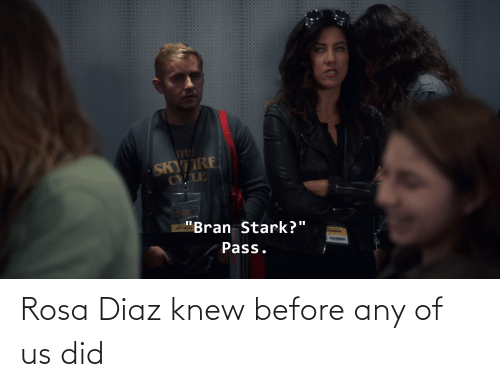 Rosa: Rosa Diaz knew before any of us did