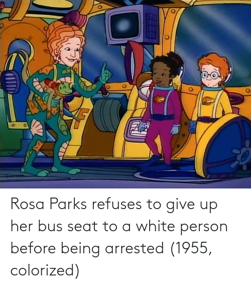 Rosa: Rosa Parks refuses to give up her bus seat to a white person before being arrested (1955, colorized)
