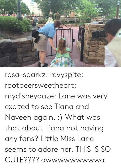 little miss: rosa-sparkz: revyspite:  rootbeersweetheart:  mydisneydaze:  Lane was very excited to see Tiana and Naveen again. :)  What was that about Tiana not having any fans? Little Miss Lane seems to adore her.  THIS IS SO CUTE????  awwwwwwwwwa