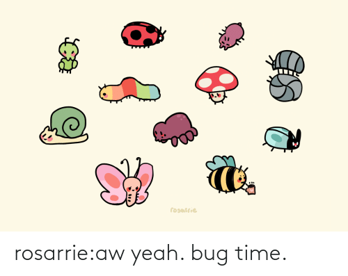 bug: rosarrie:aw yeah. bug time.