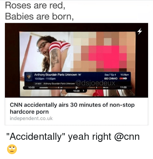 arts entertainment tv news cnn accidentally airs minutes of non stop hardcore porn a.