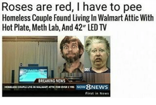 Roses Are Red L Have To To Pee Homeless Couple Found