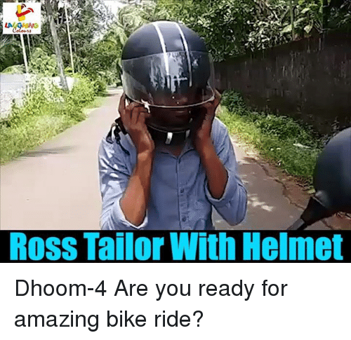 Bike riding: Ross Tailor With Helmet Dhoom-4 Are you ready for amazing bike ride?