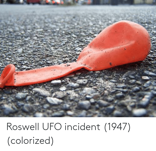 ufo: Roswell UFO incident (1947) (colorized)