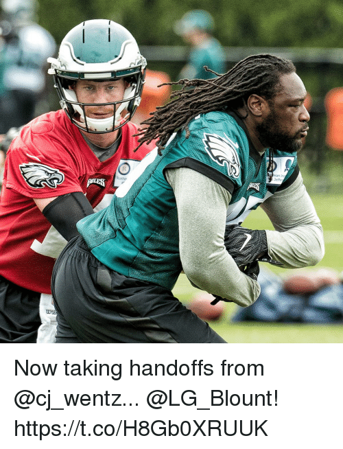 memes: Roth  man Ins  Jeffe Now taking handoffs from @cj_wentz...  @LG_Blount! https://t.co/H8Gb0XRUUK