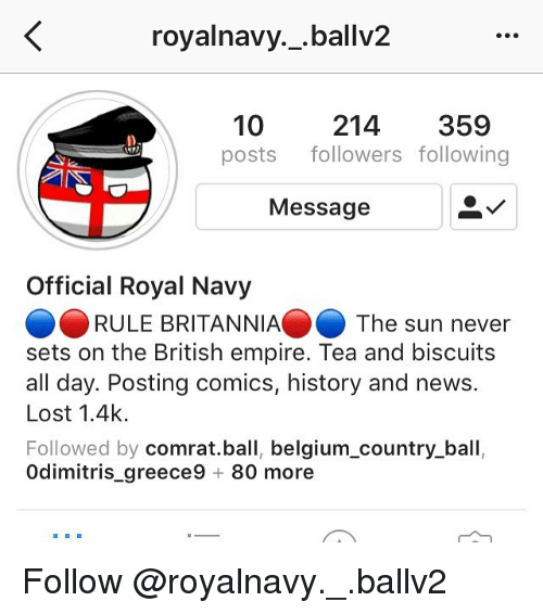 royalnavy ballv2 10 posts followers following 214 359 4 message official 24266927 🔥 25 best memes about country ball country ball memes