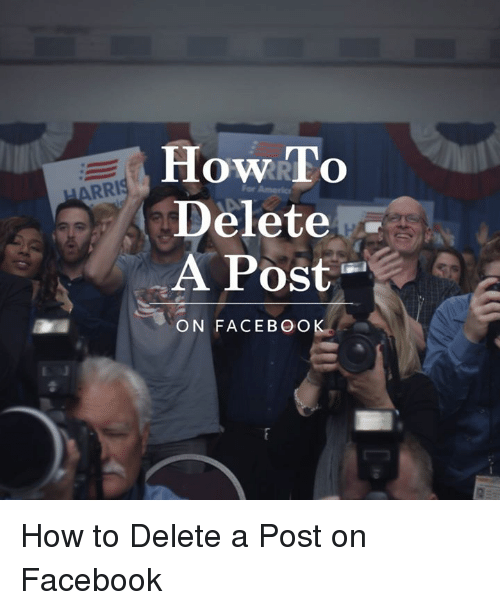 how to delete bio post on facebook