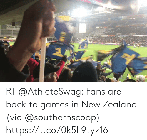 Back: RT @AthleteSwag: Fans are back to games in New Zealand (via @southernscoop) https://t.co/0k5L9tyz16