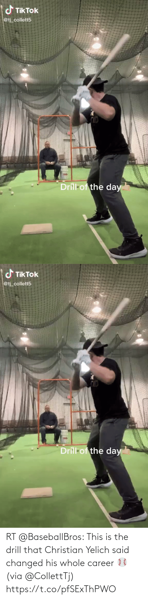 career: RT @BaseballBros: This is the drill that Christian Yelich said changed his whole career ⚾️ (via @CollettTj) https://t.co/pfSExThPWO