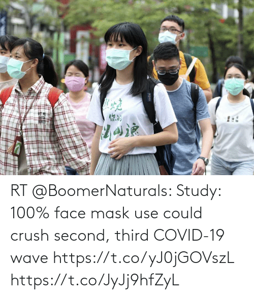 Could: RT @BoomerNaturals: Study: 100% face mask use could crush second, third COVID-19 wave https://t.co/yJ0jGOVszL https://t.co/JyJj9hfZyL