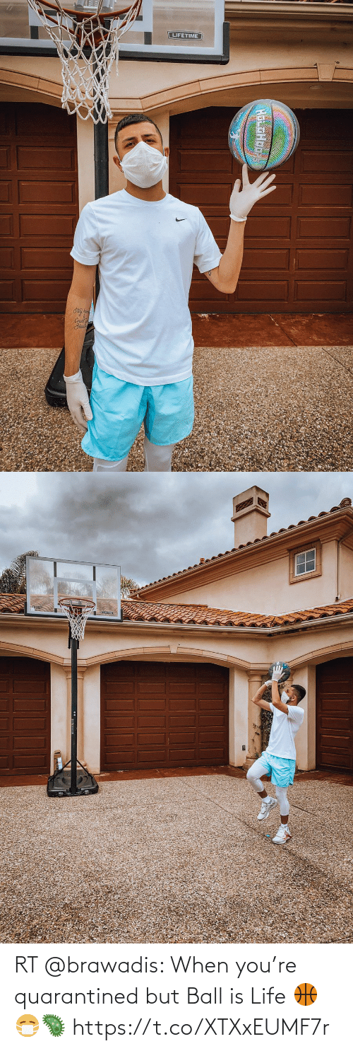 ball is life: RT @brawadis: When you're quarantined but Ball is Life 🏀😷🦠 https://t.co/XTXxEUMF7r