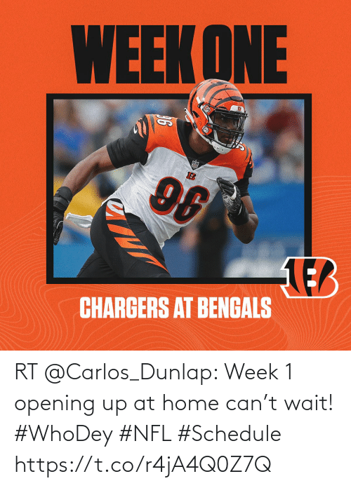 Opening: RT @Carlos_Dunlap: Week 1 opening up at home can't wait! #WhoDey #NFL #Schedule https://t.co/r4jA4Q0Z7Q