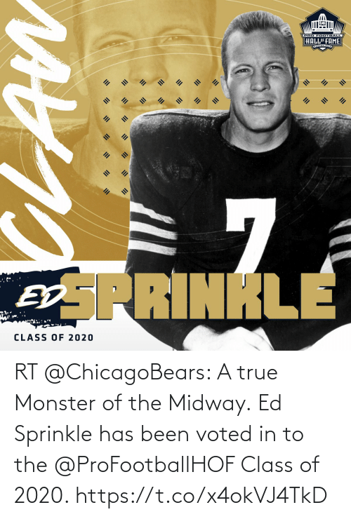 Sprinkle: RT @ChicagoBears: A true Monster of the Midway.  Ed Sprinkle has been voted in to the @ProFootballHOF Class of 2020. https://t.co/x4okVJ4TkD