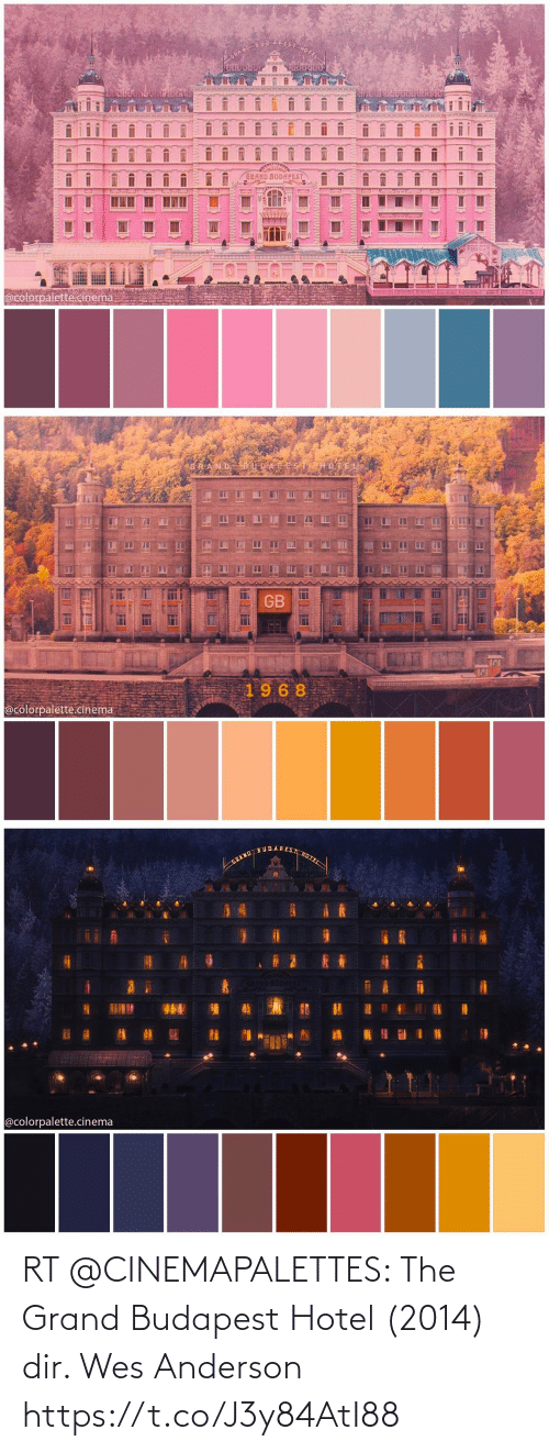 Wes: RT @CINEMAPALETTES: The Grand Budapest Hotel (2014) dir. Wes Anderson https://t.co/J3y84AtI88