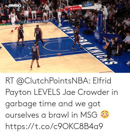 Jae Crowder: RT @ClutchPointsNBA: Elfrid Payton LEVELS Jae Crowder in garbage time and we got ourselves a brawl in MSG 😳 https://t.co/c9OKC8B4a9