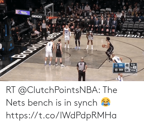 Nets: RT @ClutchPointsNBA: The Nets bench is in synch 😂 https://t.co/lWdPdpRMHa