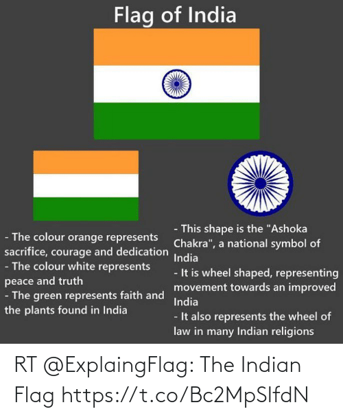 Indian: RT @ExplaingFlag: The Indian Flag https://t.co/Bc2MpSIfdN