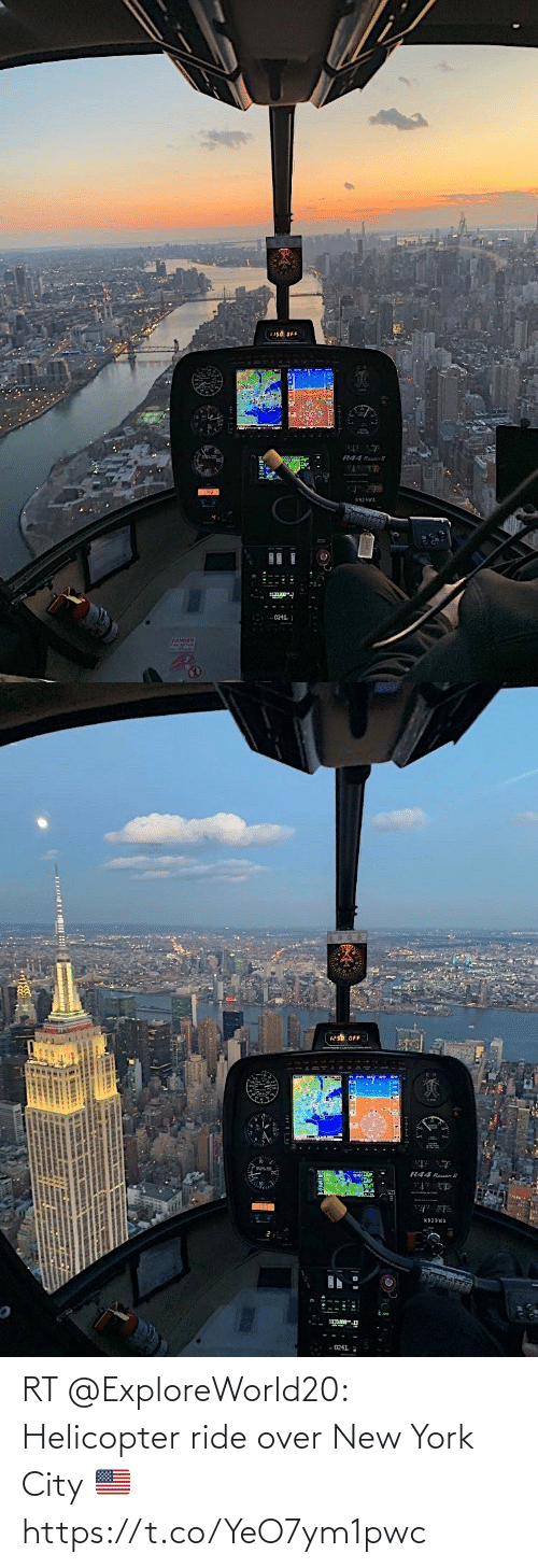 ride: RT @ExploreWorld20: Helicopter ride over New York City 🇺🇸 https://t.co/YeO7ym1pwc