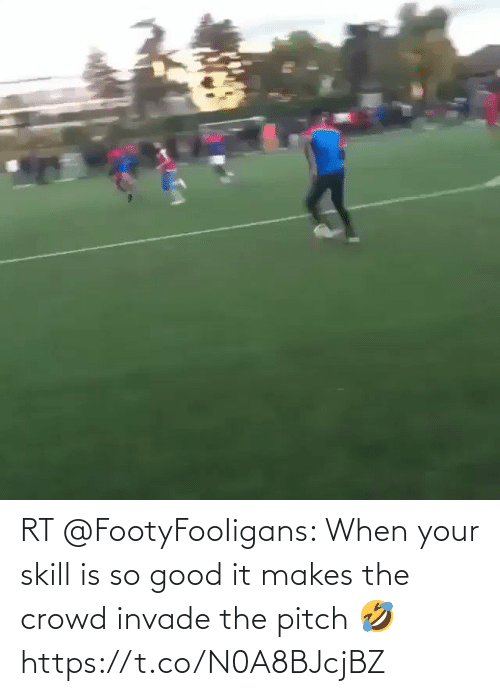 crowd: RT @FootyFooIigans: When your skill is so good it makes the crowd invade the pitch 🤣   https://t.co/N0A8BJcjBZ