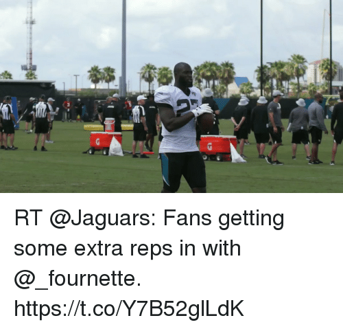 Memes, 🤖, and Jaguars: RT @Jaguars: Fans getting some extra reps in with @_fournette. https://t.co/Y7B52glLdK