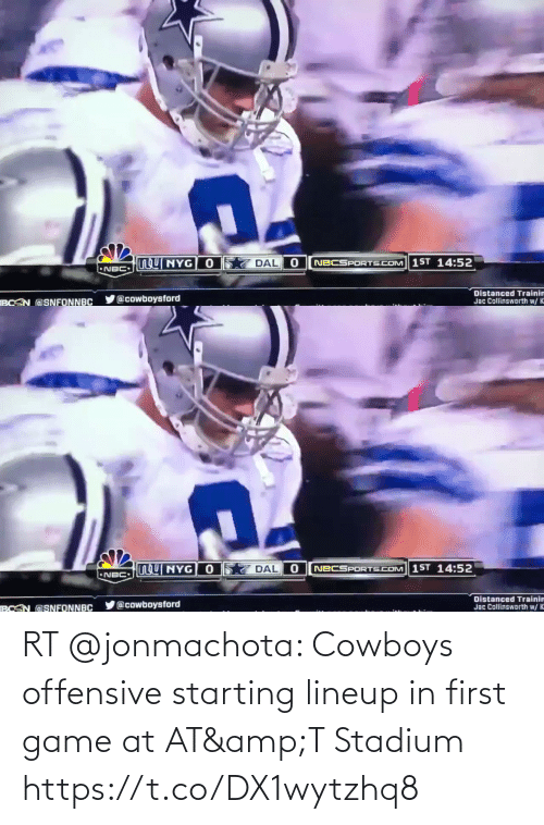 AT-AT: RT @jonmachota: Cowboys offensive starting lineup in first game at AT&T Stadium https://t.co/DX1wytzhq8