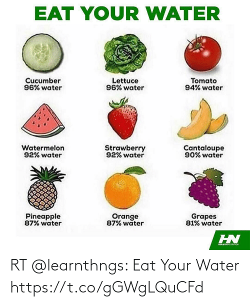 Your: RT @learnthngs: Eat Your Water https://t.co/gGWgLQuCFd