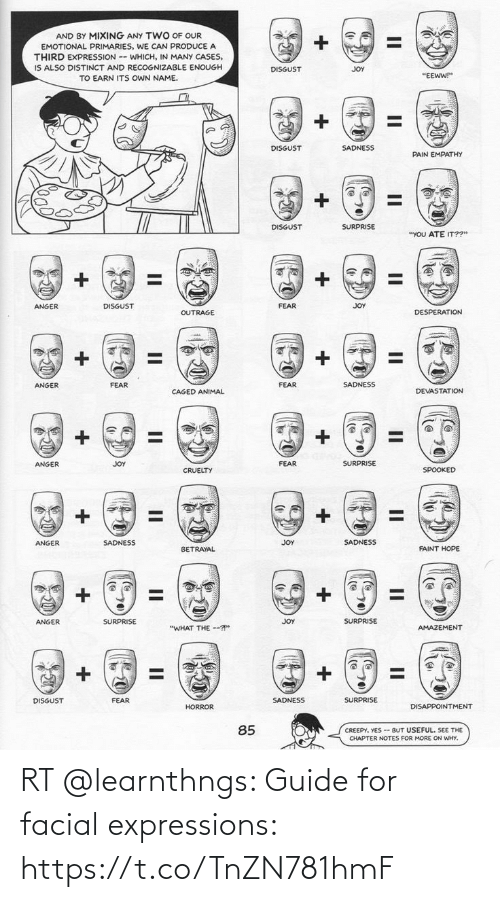 Memes, 🤖, and Guide: RT @learnthngs: Guide for facial expressions: https://t.co/TnZN781hmF
