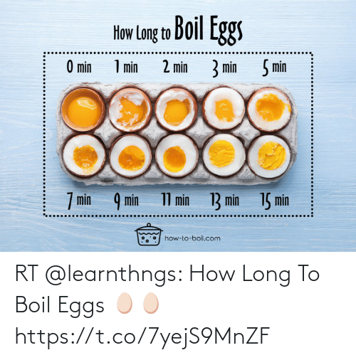 eggs: RT @learnthngs: How Long To Boil Eggs 🥚🥚 https://t.co/7yejS9MnZF
