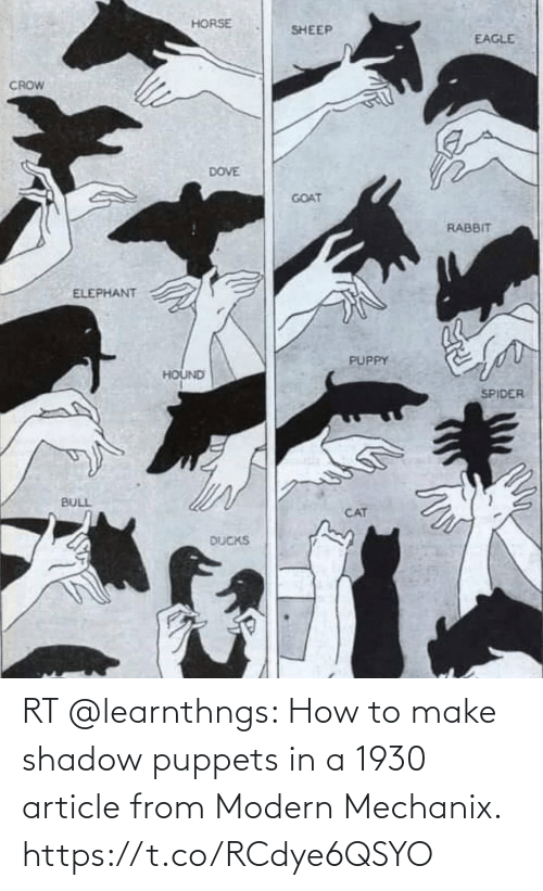 make: RT @learnthngs: How to make shadow puppets in a 1930 article from Modern Mechanix. https://t.co/RCdye6QSYO