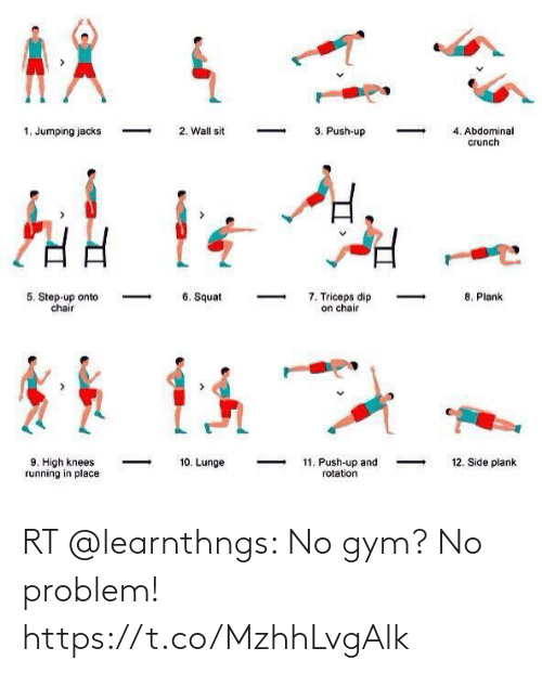 Gym: RT @learnthngs: No gym? No problem! https://t.co/MzhhLvgAlk