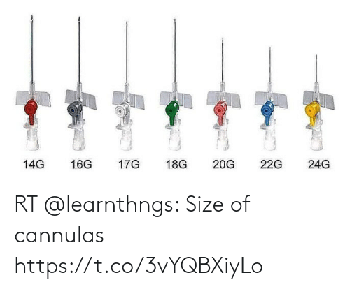 Size: RT @learnthngs: Size of cannulas https://t.co/3vYQBXiyLo