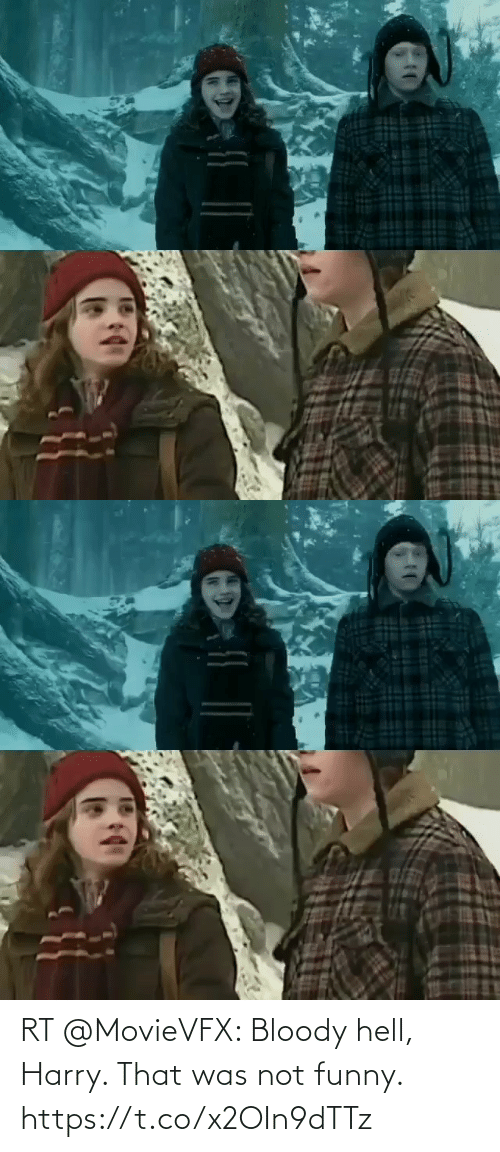 Hell: RT @MovieVFX: Bloody hell, Harry. That was not funny. https://t.co/x2OIn9dTTz