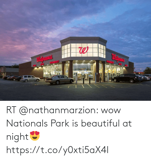 Beautiful, Memes, and Wow: RT @nathanmarzion: wow Nationals Park is beautiful at night😍 https://t.co/y0xti5aX4I