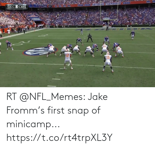 NFL: RT @NFL_Memes: Jake Fromm's first snap of minicamp... https://t.co/rt4trpXL3Y