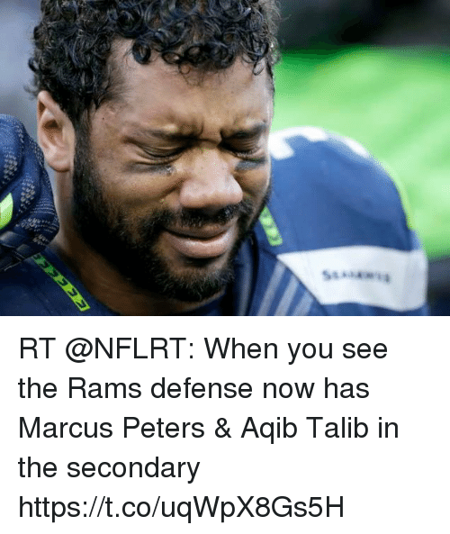 Aqib Talib: RT @NFLRT: When you see the Rams defense now has Marcus Peters & Aqib Talib in the secondary https://t.co/uqWpX8Gs5H