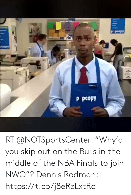 "White People: RT @NOTSportsCenter: ""Why'd you skip out on the Bulls in the middle of the NBA Finals to join NWO""?  Dennis Rodman: https://t.co/j8eRzLxtRd"