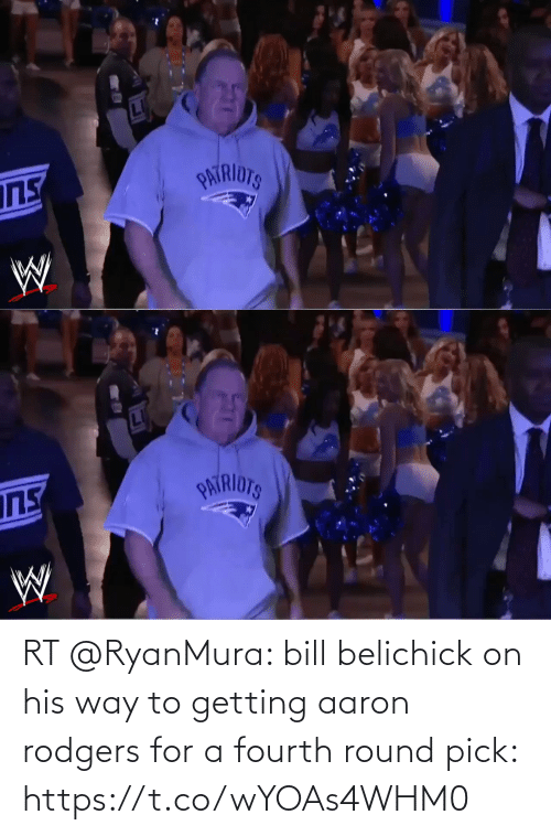 Aaron Rodgers: RT @RyanMura: bill belichick on his way to getting aaron rodgers for a fourth round pick: https://t.co/wYOAs4WHM0