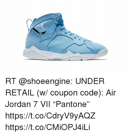 "RT UNDER RETAIL W Coupon Code Air Jordan 7 VII ""Pantone"