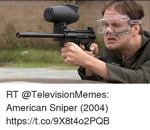 rt televisionmemes american sniper 2004 https t co 9x8t4o2pqb 23971743 rt american sniper 2004 stco9x8t4o2pqb american sniper meme