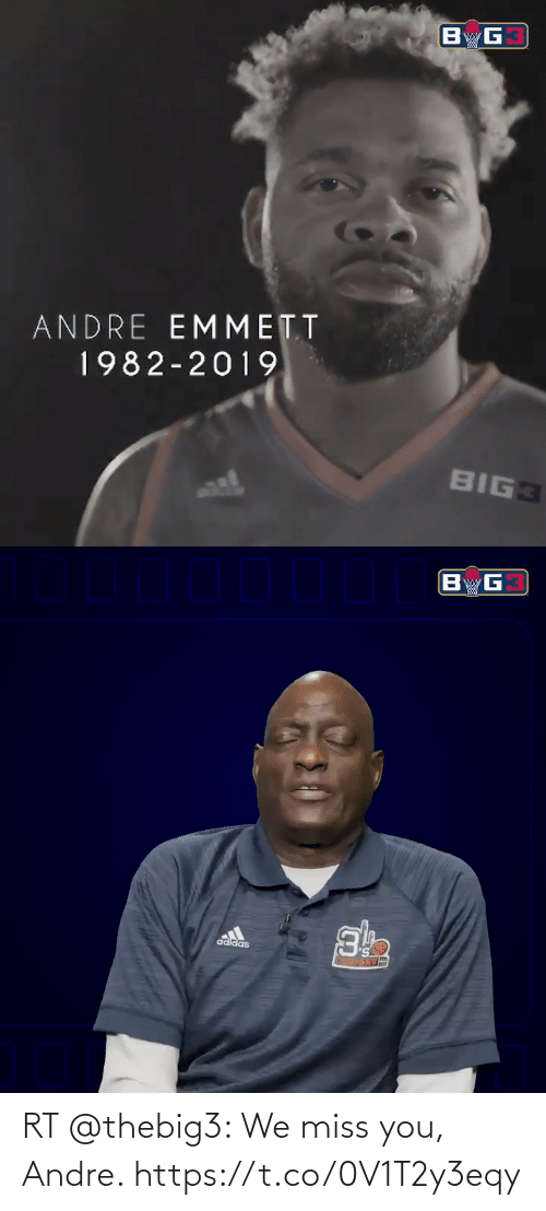 We Miss You: RT @thebig3: We miss you, Andre. https://t.co/0V1T2y3eqy