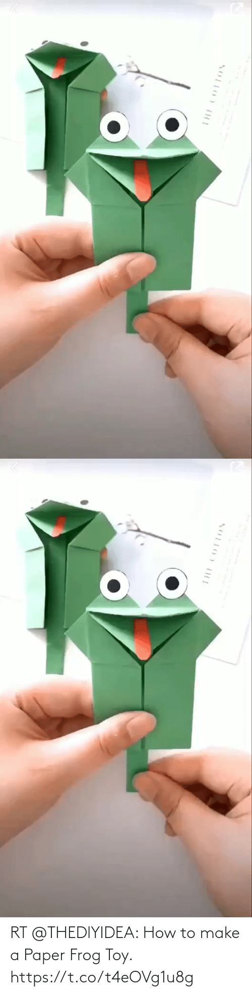 make: RT @THEDlYIDEA: How to make a Paper Frog Toy. https://t.co/t4eOVg1u8g
