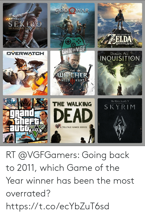 Has Been: RT @VGFGamers: Going back to 2011, which Game of the Year winner has been the most overrated? https://t.co/ecYbZuT6sd