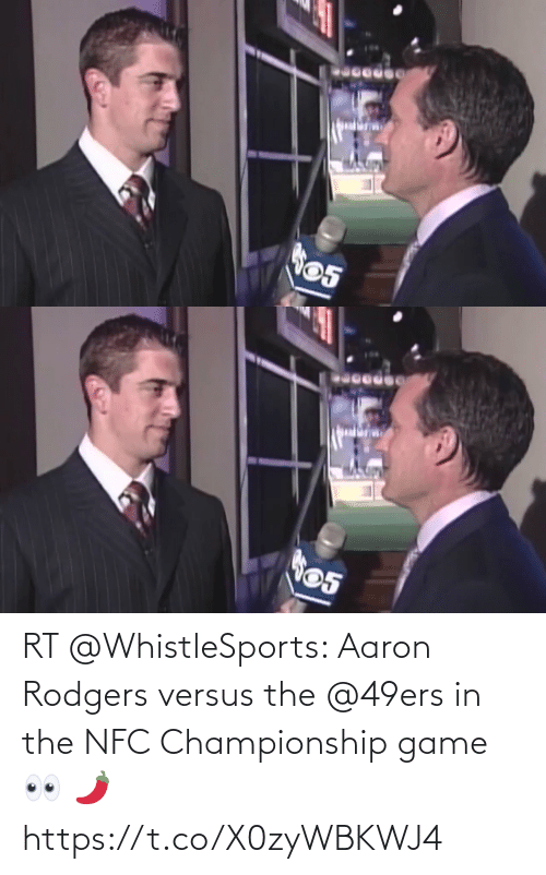 Aaron Rodgers: RT @WhistleSports: Aaron Rodgers versus the @49ers in the NFC Championship game 👀 🌶 https://t.co/X0zyWBKWJ4