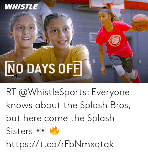 bros: RT @WhistleSports: Everyone knows about the Splash Bros, but here come the Splash Sisters 👀 🔥 https://t.co/rFbNmxqtqk