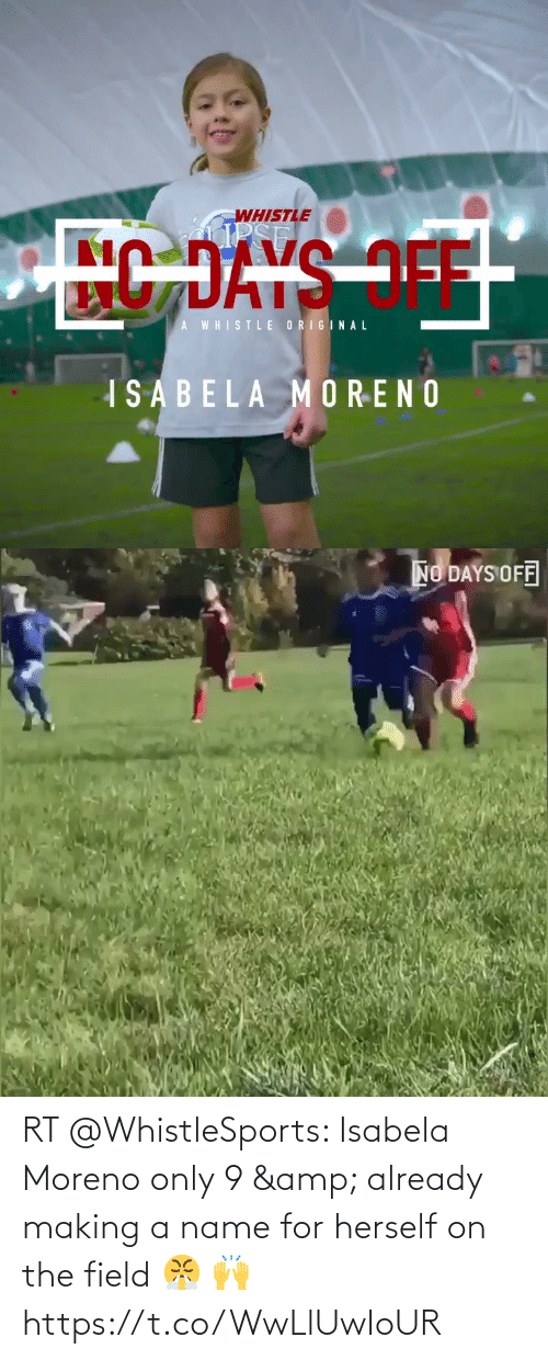 already: RT @WhistleSports: Isabela Moreno only 9 & already making a name for herself on the field 😤 🙌   https://t.co/WwLlUwIoUR